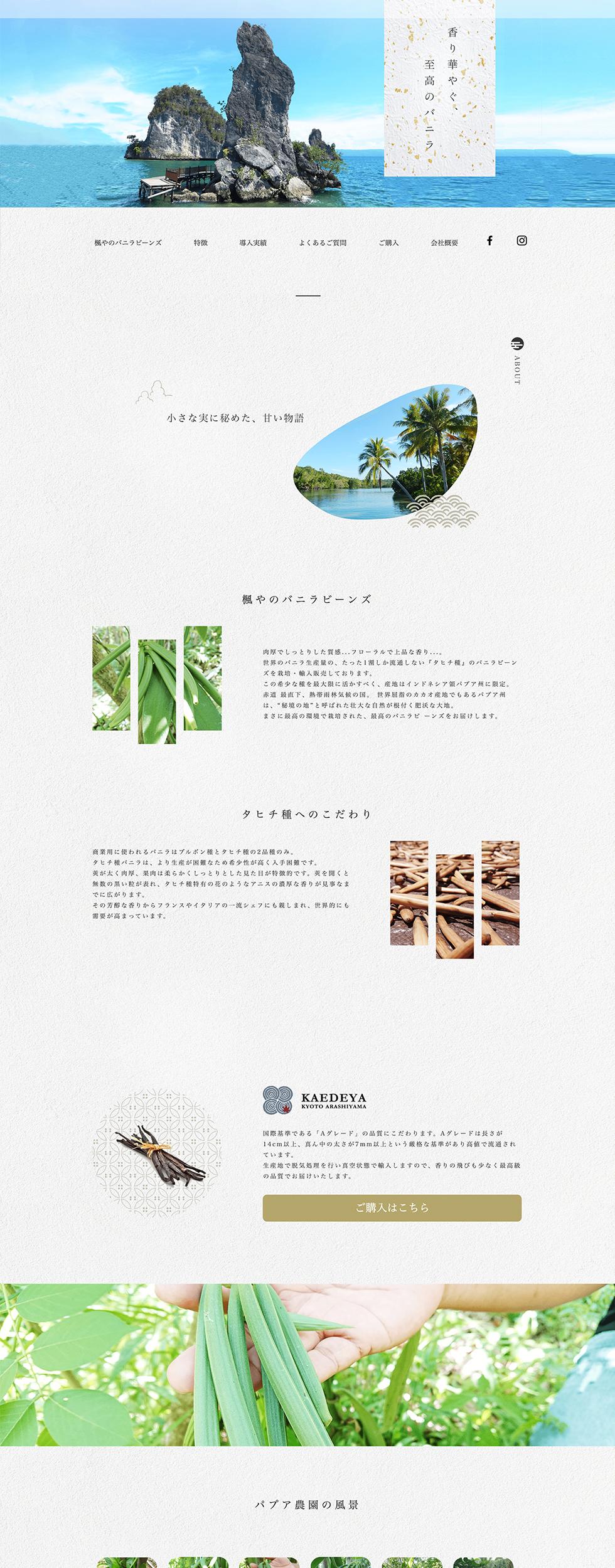 楓やのバニラビーンズサイトイメージ